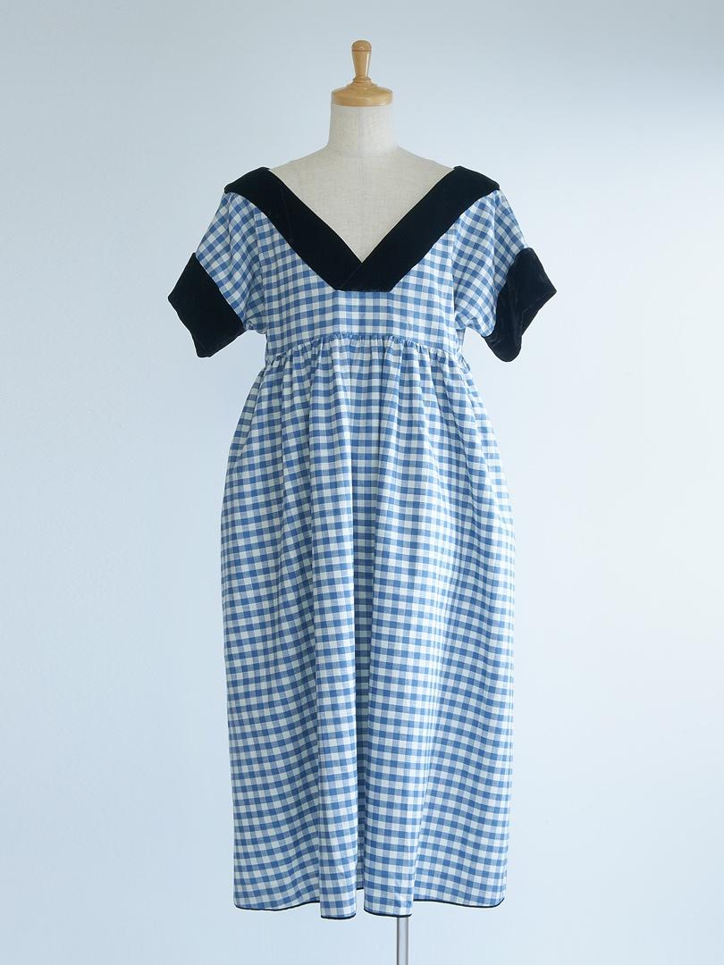 ギンガムのガーデンドレス
