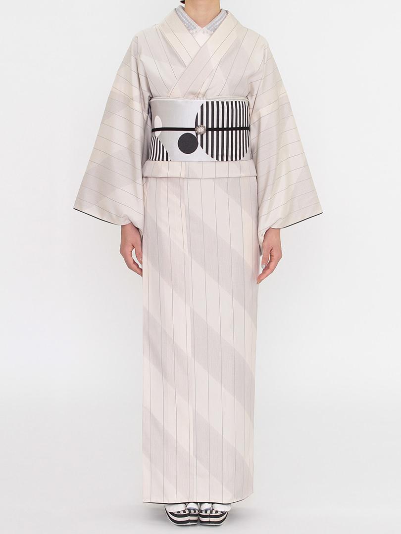 オブリック 紬の着物
