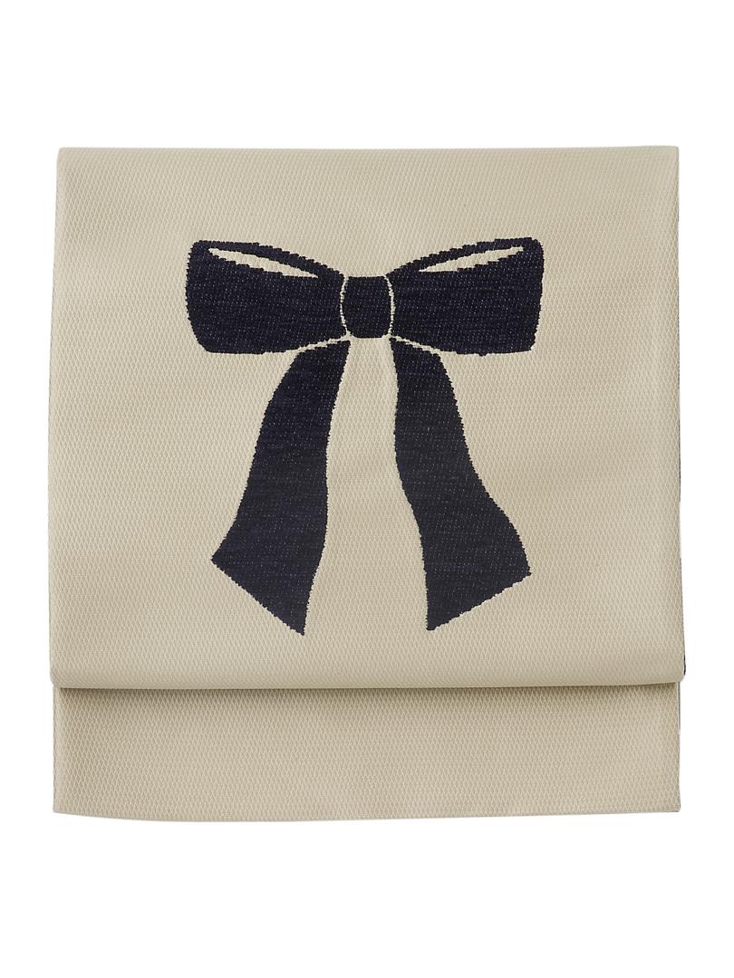 リボン結びの帯・飴色