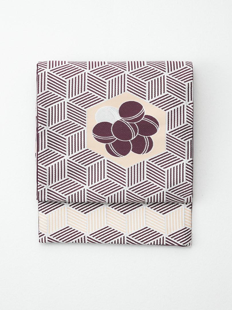(亀甲柄) 京袋帯・紫