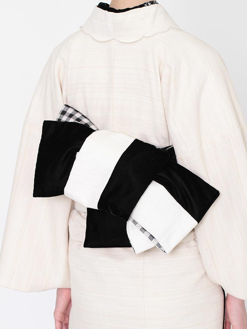カディ 半巾帯・生成