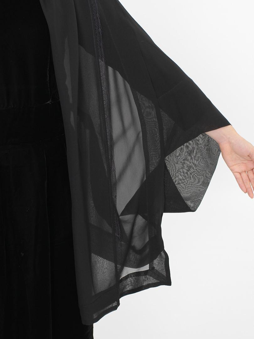 家紋シルク羽織ガウン