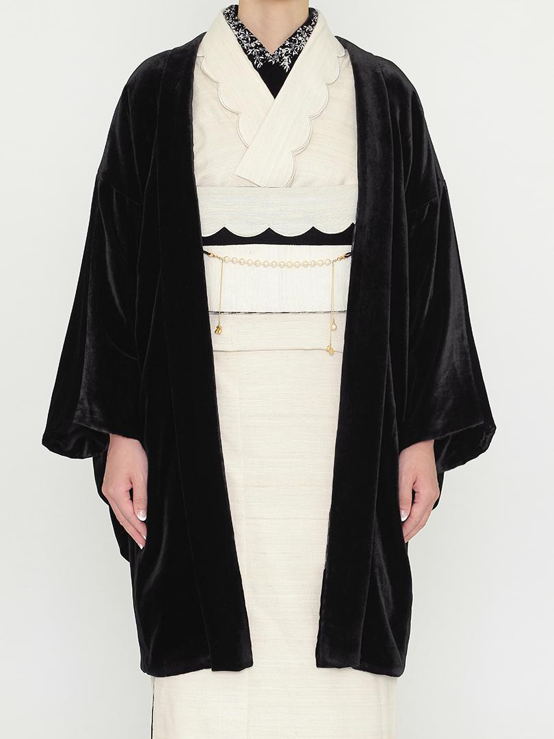 ベルベッド 羽織・黒