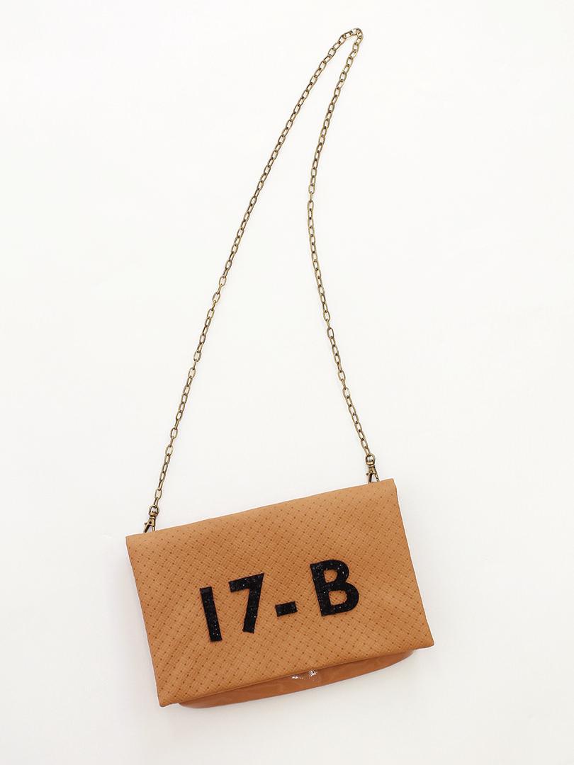 17-B バスケット クラッチ/ショルダーバッグ・ブラウン