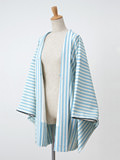 パールストライプの羽織・水色