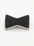 タマスの帯留ブローチ Black Tie